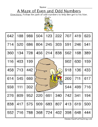 odd maze worksheet 3