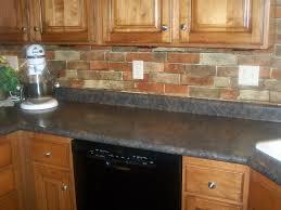 brick backsplashes for kitchens kitchen exciting faux brick backsplash kitchen in lowes tile