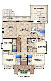 beach style house plan 5 beds 5 50 baths 9075 sq ft plan 27 456
