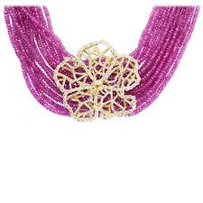 necklace gold pink images Stambolian pink sapphire bead diamond gold hibiscus necklace for jpg