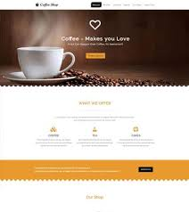coffee shop free html5 template