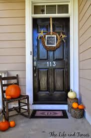 front porch decor ideas a glimpse inside 25 fall u0026 halloween front porch decorating ideas