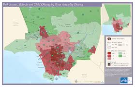 Los Angeles Area Map by Healthy Green Land Use Equitable Development And Civic