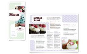 bakery and cupcake shop menu design template by stocklayouts