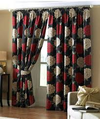 Black Floral Curtains Furniture And Black Kitchen Curtains Collection With White