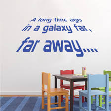 star wars long time ago wall stickers decals blue star wars long time ago wall decal nursery