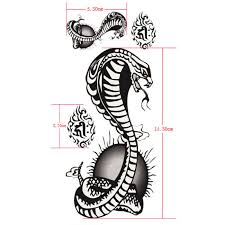 tattoo decal paper buy buy cobra waterproof snake design temporary tattoo sticker paper