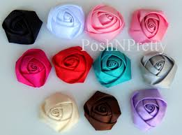 satin roses rolled roses posh n pretty boutique wholesale supplies