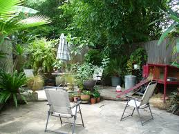 wonderful tropical backyard design with patio bar chair for