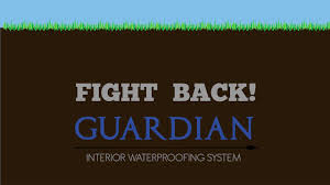 guardian interior basement waterproofing system footer channel