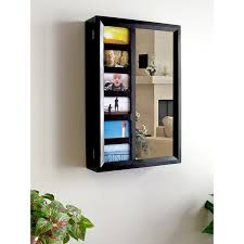 Jewelry Cabinets Wall Mounted by Photo Frames Wall Mount Jewelry Armoire Mirror Espresso 16w X