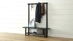 coat rack with bench storage image of hall coat rack with bench