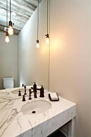 bathroom pendant lighting ideas timber vanity unit in a dark tiled