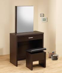 Vanity Desk Taylor Cappuccino Makeup Vanity Table Set Hidden Storage