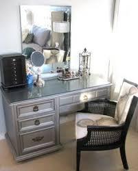 What Is A Vanity Room 2 Shelf Black Metal Vanity Mirror U0026 Chair Set By Bella Esprit