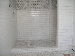 subway tile ideas for bathroom marble tile shower floor with ceramic subway tile on the walls