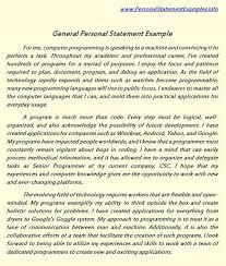 General Personal Statement  General Personal Statement   Essay     General Personal Statement