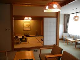Japanese Home Interior Design by White Wall Japanese Home Design Idea With Pendant Lamp Living