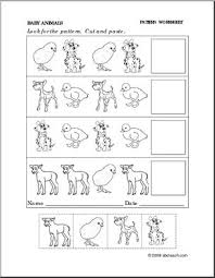cut and paste pattern worksheets free worksheets library