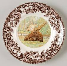 dining charming new moose motif in spode woodland with spode