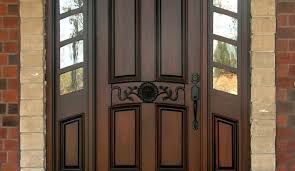 door beautiful wooden front door with window wood stain