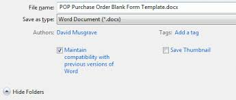 word templates office 2010 and the maintain compatibility option