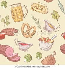 cuisine en allemand cuisine drink allemand pattern seamless illustration