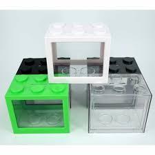 v2 brand new lego stackable mini display fish tank furniture