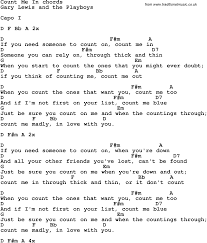 Count On Me Ukulele Tabs Pdf Song Lyrics With Guitar Chords For Count Me In
