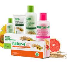 Pembersih Muka Natur E 3 rangkaian perawatan kulit dari luar dalam sesuai moeslema