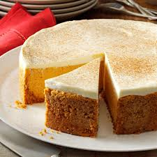 pumpkin cheesecake with sour cream topping recipe taste of home
