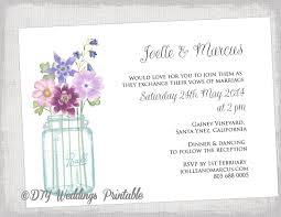 wedding invitation templates download wedding invitation template mason jar printable