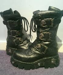 womens boots ebay uk silver spiderweb authentic rock boots uk size 5 in clothes