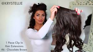 one hair extensions how to 1 clip in hair extension by krystellie