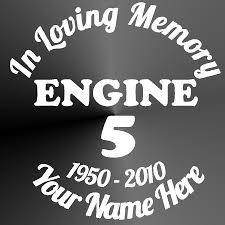 Memorial Decal Sticker Vinyl Car Truck Jeep Firefighter
