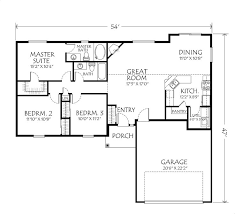 Great Room Floor Plans Single Story Single Level House Plans Descargas Mundiales Com