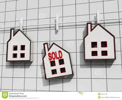 House Meaning by Sold House Meaning Sale Of Real Estate Houses Royalty Free Stock