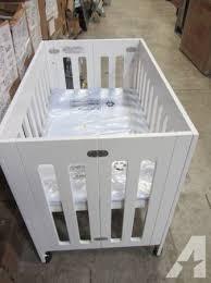 Babyletto Grayson Mini Crib White Babyletto Grayson Mini Crib With Mattress Pad For Sale In