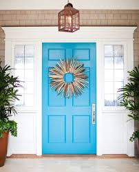 painted front door a door able blue painted front doors that remind you of the beach