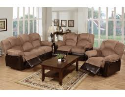 Microfiber Reclining Sofa Sets Microfiber Reclining Sofa Set Two Tone Saddle Reclining And