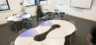 poynton high cheshire flexible classroom tables by