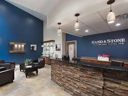 Stone Reception Desk Lobby Hand And Stone Spa Office Photo Glassdoor