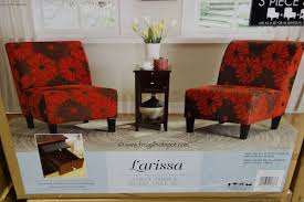 accent table and chairs set ave six larissa 3 piece chair accent table set costco