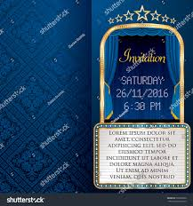 Background Of Invitation Card Vector Layout Invitation Card Blue Stage Stock Vector 520220200