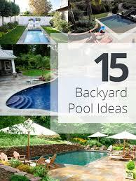 Backyard Pool Ideas by Backyard Designs With Pool 25 Best Ideas About Small Backyard