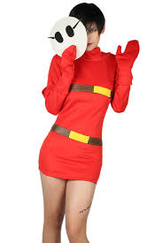 xcoser mario series shy costume red dress for cosplay
