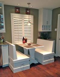 Dining Room Booth Furniture White Wooden Booth Tables With Storage Drawer On Brown
