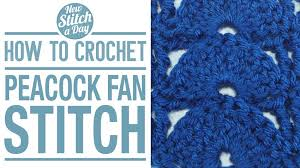 peacock fan peacock fan stitch crochet stitch 27 new stitch a day