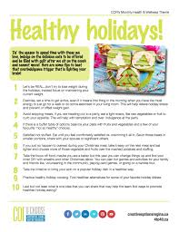 health and wellness theme for december healthy holidays creative
