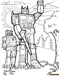 transformers robots coloring free coloring pages